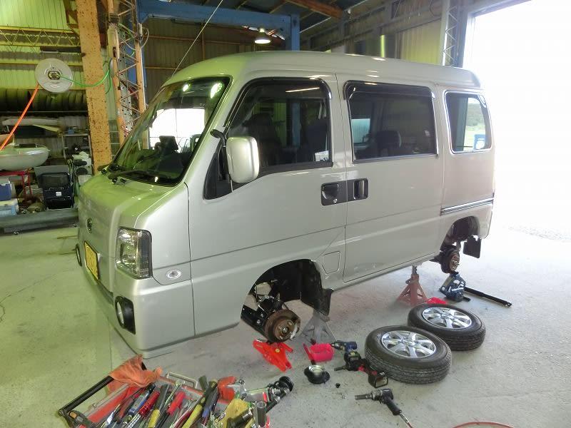 ■SUBARU サンバーディアス4WD STD施工